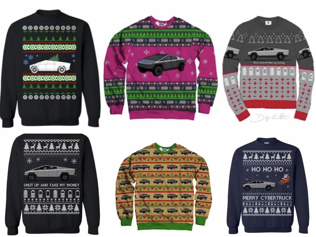 Cybertruck ugly christmas sweaters.png