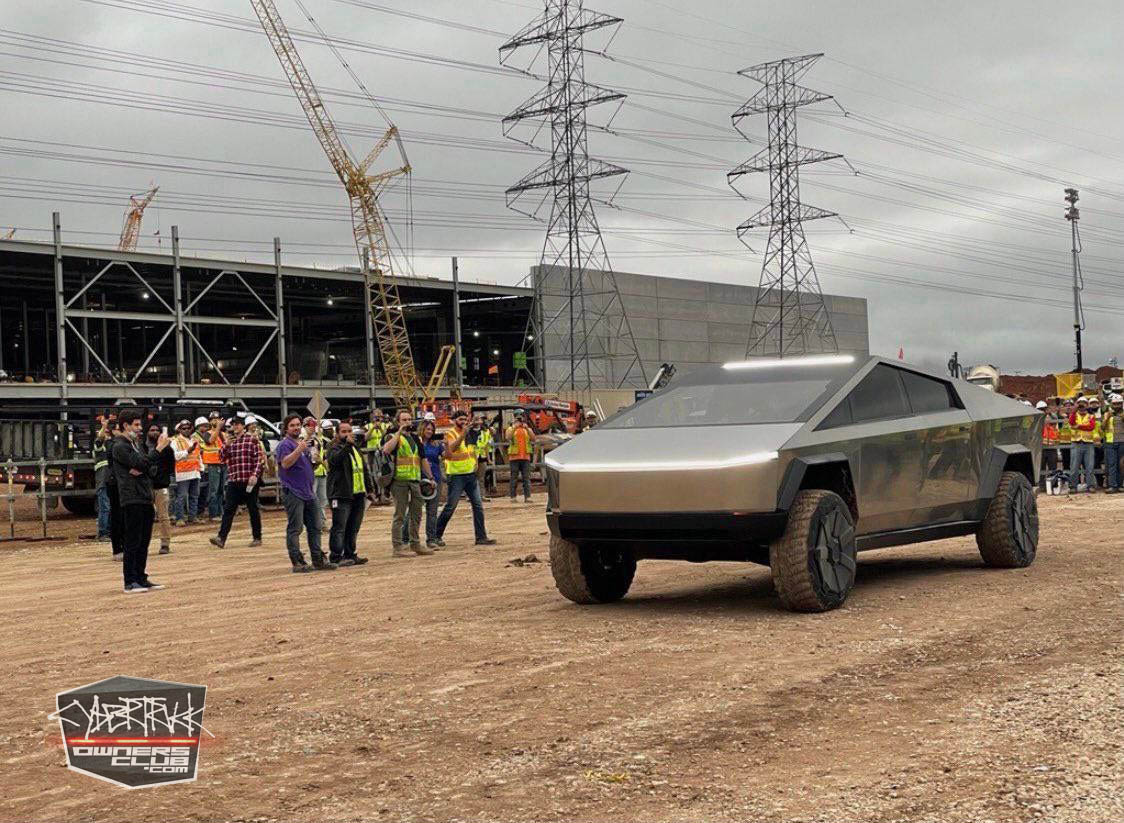 Tesla Cybertruck spotted at Giga Texas Plant Elon Musk driven 1.jpg